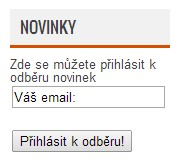 Novinky do emailu